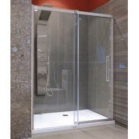 Aquatek Admiral B2 - Luxusní sprchové dveře zasouvací 127-131cm, sklo 8mm