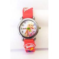 Dětské červené hodinky Barbie v růžovém saku