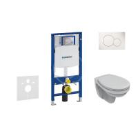 Geberit Sada pro závěsné WC + klozet a sedátko softclose Ideal Standard Quarzo - sada s tlačítkem Sigma01, bílé 111.300.00.5 ND1