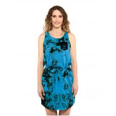 Horsefeathers ELLIS BLUE TIE DYE společenské šaty krátké - XS