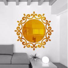 Samolepicí zrcadlo kulaté - 2 barvy Barva: Zlatá