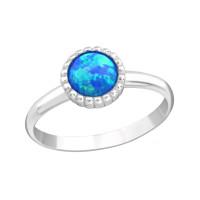 OLIVIE Dětský stříbrný prstýnek MODRÝ OPÁL 4431