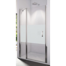 SanSwiss SL13 1200 50 51 Sprchové dveře jednokřídlé s pevnou stěnou 120 cm, aluchrom/linie