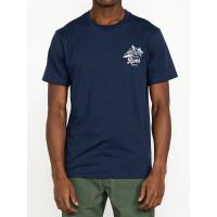 RVCA TROPICAL DISASTER MOODY BLUE pánské tričko s krátkým rukávem - L