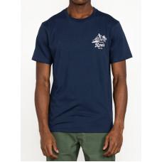 RVCA TROPICAL DISASTER MOODY BLUE pánské tričko s krátkým rukávem - M