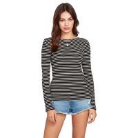 Volcom Dayze Dayz BLACK WHITE dámské tričko s dlouhým rukávem - L