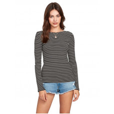 Volcom Dayze Dayz BLACK WHITE dámské tričko s dlouhým rukávem - M