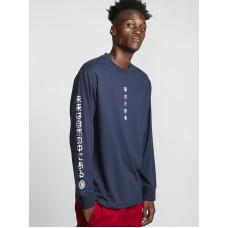 Element TAKASHI indigo pánské tričko s dlouhým rukávem - M