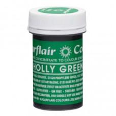 Sugarflair Gelová barva potravinářská Cesmínově zelená (Holly green) 25g