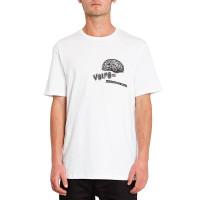 Volcom Cosmogramma white pánské tričko s krátkým rukávem - M