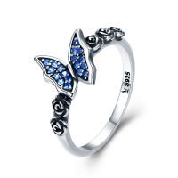 OLIVIE Stříbrný prsten MODRÝ MOTÝL 2959 Velikost prstenů: 6 (EU: 51 - 53)