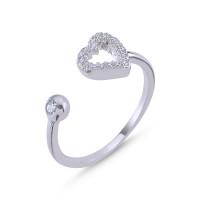 OLIVIE Stříbrný prsten SRDCE - nastavitelná velikost 4043