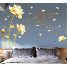 Samolepka Vanilkové květy s rámečky