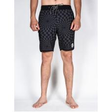 Vans MIXED SCALLOP BLACK/BLACK WARP CHECK pánské plavecké šortky - 24