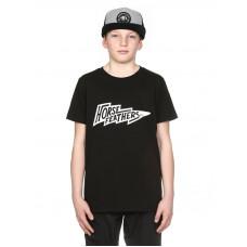 Horsefeathers FLASH black dětské tričko s krátkým rukávem - XL