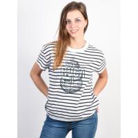 RVCA SAFE HARBOR NAVY STRIPE dámské tričko s krátkým rukávem - S
