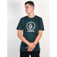 Volcom Crisp Stone EVERGREEN pánské tričko s krátkým rukávem - M