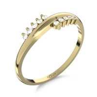 Couple Zlatý dámský prsten Sonya 6610245 Velikost prstenu: 51