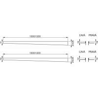 Nerezová lišta pro spádovanou podlahu PRAVÁ 1,2m dlažba 12mm, výška lemu 14mm mat ALCAPLAST APZ904M/1200 (APZ904M/1200)
