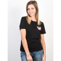 Volcom Skullactic Wave black dámské tričko s krátkým rukávem - S