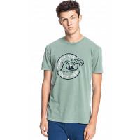 Quiksilver INTO THE WIDE BLUE SPRUCE pánské tričko s krátkým rukávem - XL