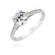 OLIVIE Stříbrný zásnubní prsten 2651 Velikost prstenů: 5 (EU: 47 - 50)