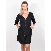RVCA HARLEY black společenské šaty krátké - S