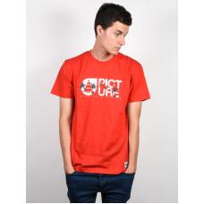 Picture Basement Palm RED pánské tričko s krátkým rukávem - M