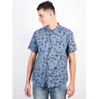RVCA OD FLORAL blue slate pánská košile krátký rukáv - M
