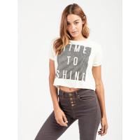 Billabong SHINE BRIGHT CREAM dámské tričko s krátkým rukávem - M