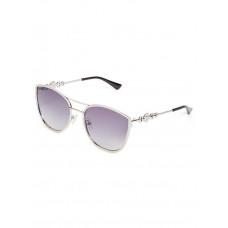 GUESS brýle Cat Eye Metal Sunglasses silver vel.