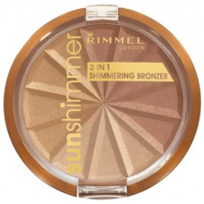 Rimmel London Sun Shimmer 3in1 Shimmering Bronzer 9,9g - 001 Gold Princess