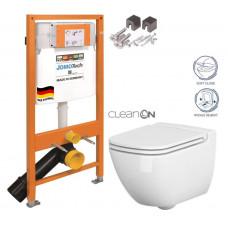 JOMO - SET JOMO Duofix modul pro závěsné WC + montážní sada + sedátko + WC CERSANIT CLEANON CASPIA (174-91100700-00 CP1)